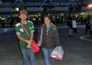 At the Puerto princesa airport