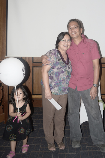 Ate Ding and Kuya Jun with Deborah.